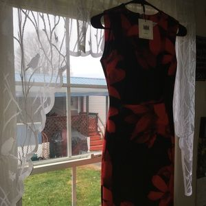 Calvin Klein Floral Hourglass Dress